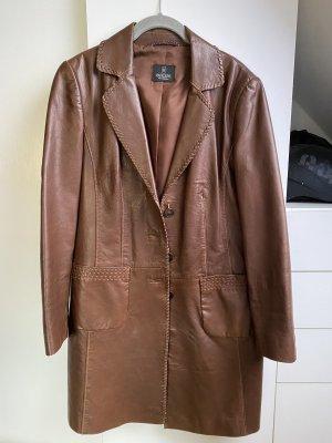 Mantel aus echtem Leder