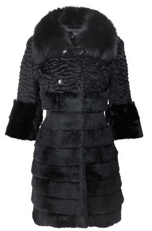 Arma Collection Abrigo de piel negro Pelaje