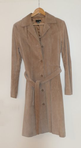 Hennes & Mauritz Leather Coat light brown leather