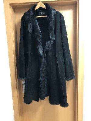 JCC Manteau de fourrure noir fourrure