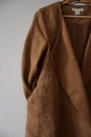 Mantel aus Velourslederimitat cognac - H&M