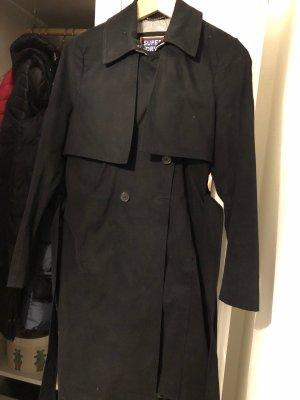 SUPER DRY Trenchcoat noir cuir