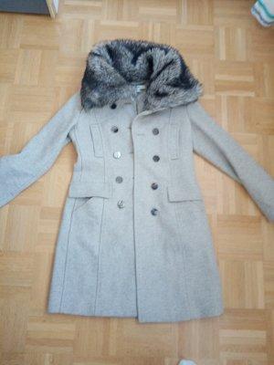 Mexx Pelt Coat silver-colored wool