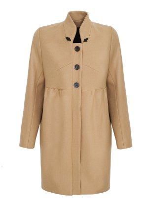 Mantel aus Wolle mit Stehkragen, camel