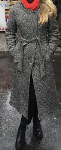 United Colors of Benetton Abrigo de invierno negro-gris lana de alpaca