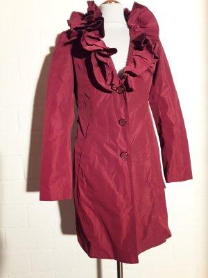 MANTEL ausgefallener Kragen in warmem Rot, 36, NEU