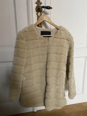 Storets Cappotto in eco pelliccia crema-beige chiaro
