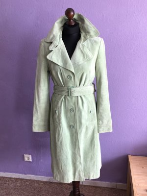 Hallhuber Leather Coat meadow green-pale green
