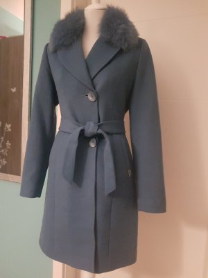 Melissa Futrzany płaszcz chabrowy