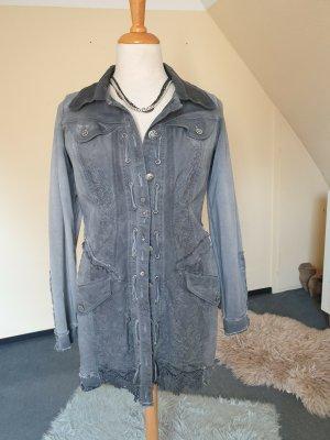Tredy Short Coat dark grey mixture fibre