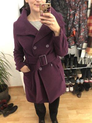 Melrose Cappotto in lana rosso mora