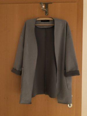 Zara Basic Manteau en cuir bleu clair-bleu clair