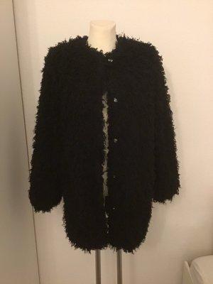 Betta Corradi Manteau imitation fourrure noir