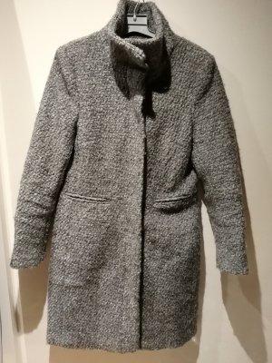 H&M Chaqueta cruzada gris claro-gris lana de angora