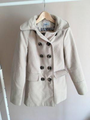 Mantel beige Damen 36 mit Knöpfen