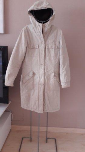 Mantel beige mit brauner Teddy-Kaputze