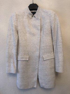 Mantel beige-weiß-meliert von Zara