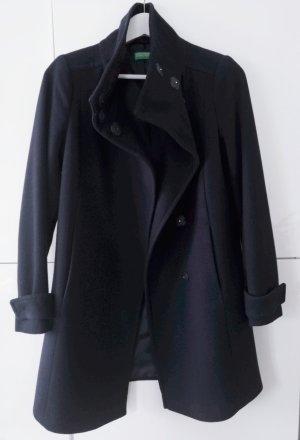 Mantel Benetton Größe 34  dunkelblau