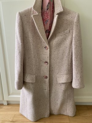 Betty Barclay Wool Coat rose-gold-coloured-white