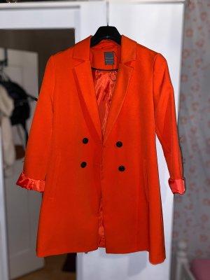 Heavy Pea Coat orange-neon orange