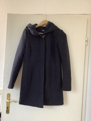 Only Manteau à capuche bleu polyester