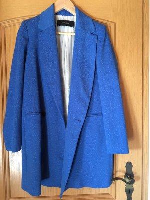 Mantel blau Zara royalblau Coat Struktur XS