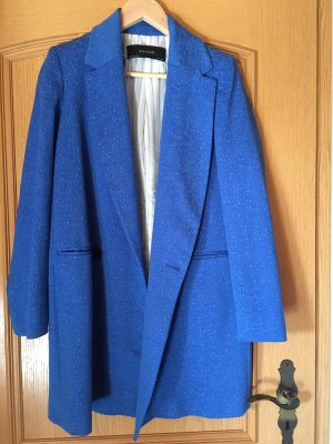 Mantel blau Zara royalblau Königsblau Coat Struktur XS