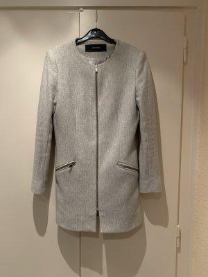 Mantel Blazer Caban von Zara in grau, Größe M