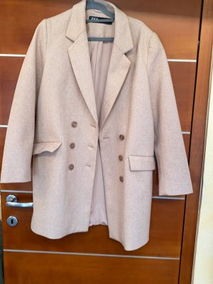 Zara Oversized Jacket dusky pink-cream