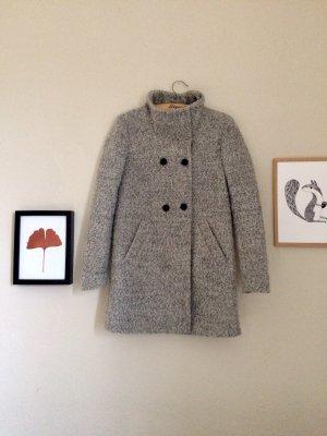 Only Abrigo de lana gris claro-gris