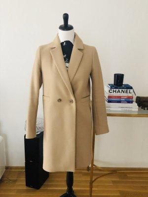 Massimo Dutti Cappotto con cappuccio beige-color cammello