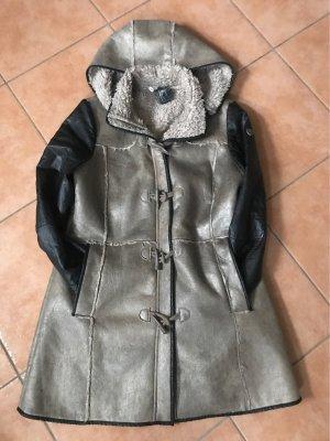 Gipsy Capuchon jas brons-zwart