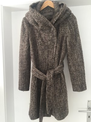 Zara Basic Wool Coat grey brown