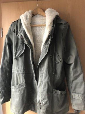 Podwójna kurtka khaki