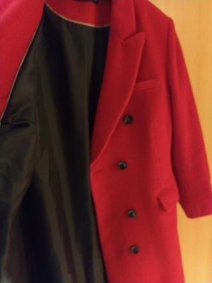 Patricia Dini Abrigo de lana rojo ladrillo Lana