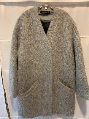 Zara Woman Cappotto corto grigio Lana