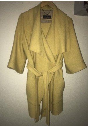 Mantel/Cardigan aus Wolle La Blanche Größe S Gelb