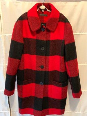 Uniqlo Short Coat dark red-black wool