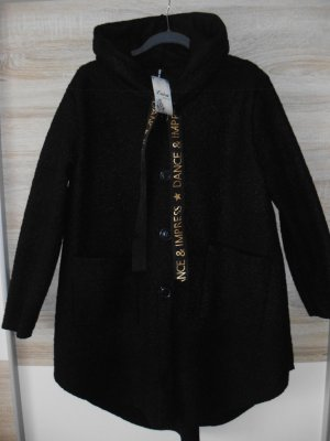 Luisa Loire Hooded Coat black-gold-colored polyester