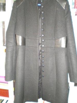 2117 of Sweden Manteau en laine noir tissu mixte