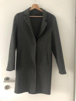 Zara Cappotto in pile grigio