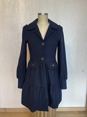 Blend Manteau en laine bleu foncé