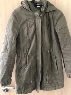 H&M Basic Hooded Coat brown