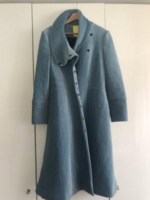 Quilted Coat azure