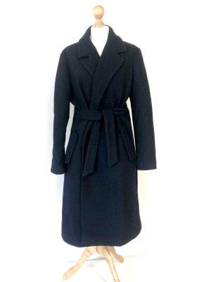 Stefanel Wool Coat dark blue wool