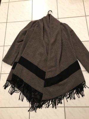 Zara Between-Seasons-Coat black-brown