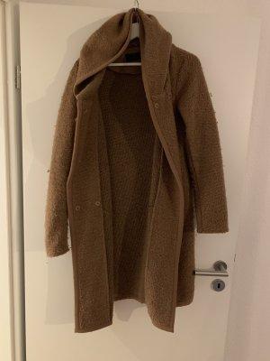 Only Abrigo de lana marrón