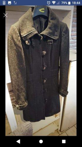 H&M Divided Gabardina tipo vestido negro