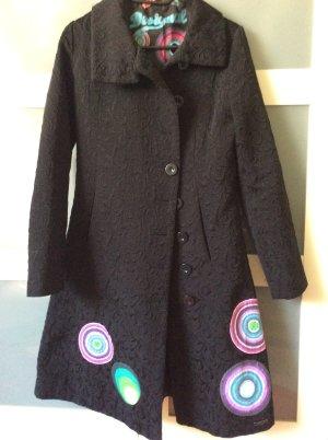 Desigual Płaszcz przejściowy czarny