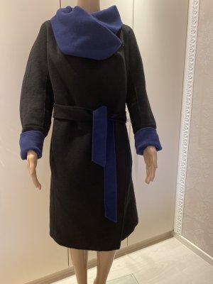 Diane von Furstenberg Cappotto in lana nero-blu